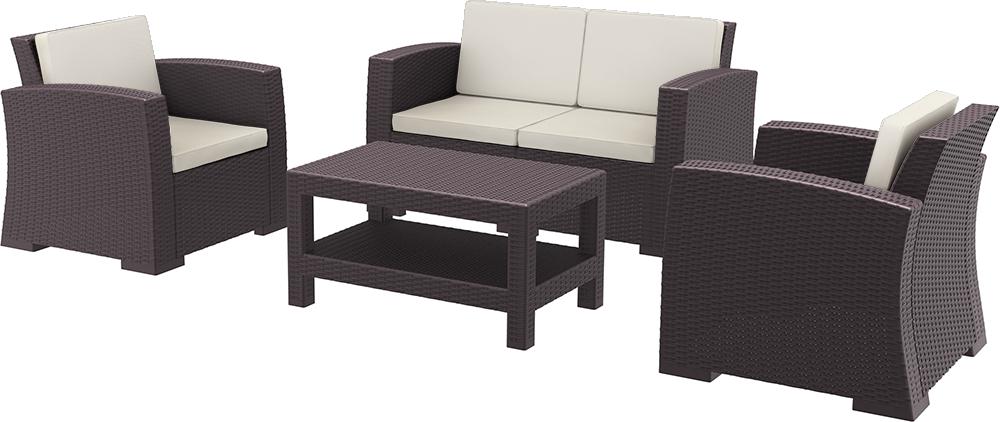Rattan lounge set  Siesta Monaco Lounge Set KahverengiSiestaSiesta Rattan Serisi