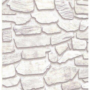 Fiorenza 9605-yaprak dallı Taş Desenli duvar kağıdı
