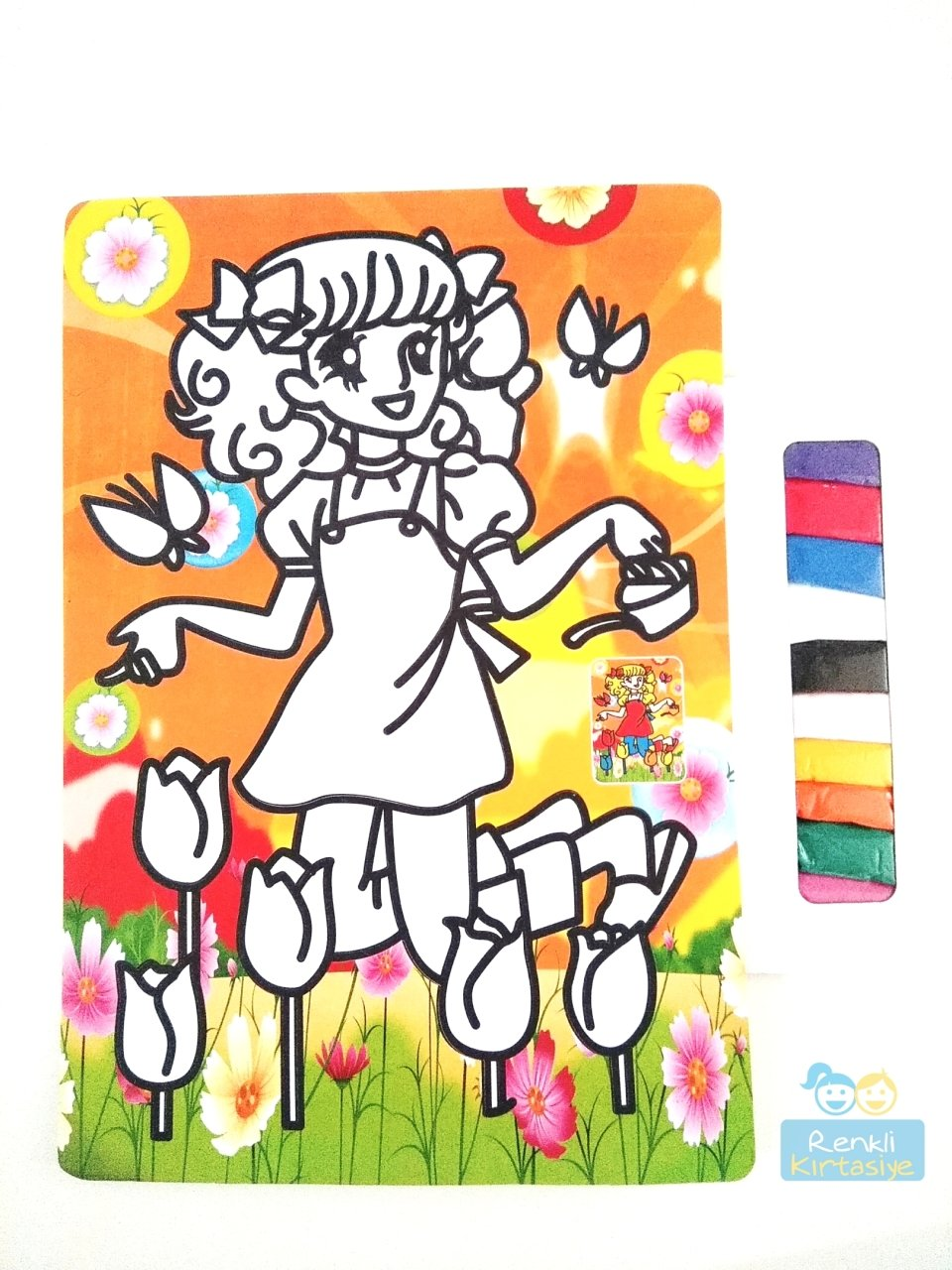 Renkli şeker Kız Kum Boyama