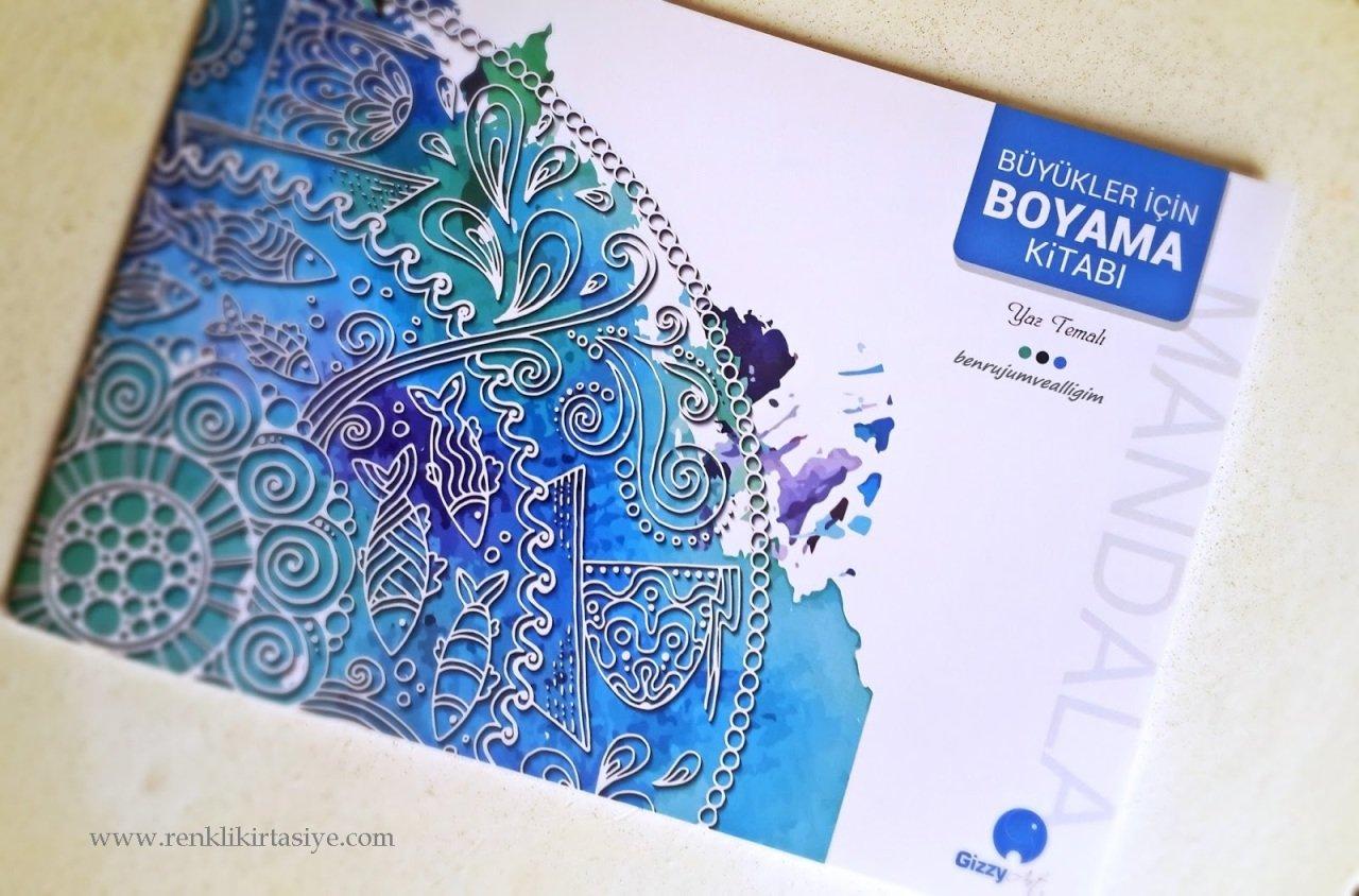 Buyukler Icin Boyama Kitabi Yaz Temali Mandala Boyama