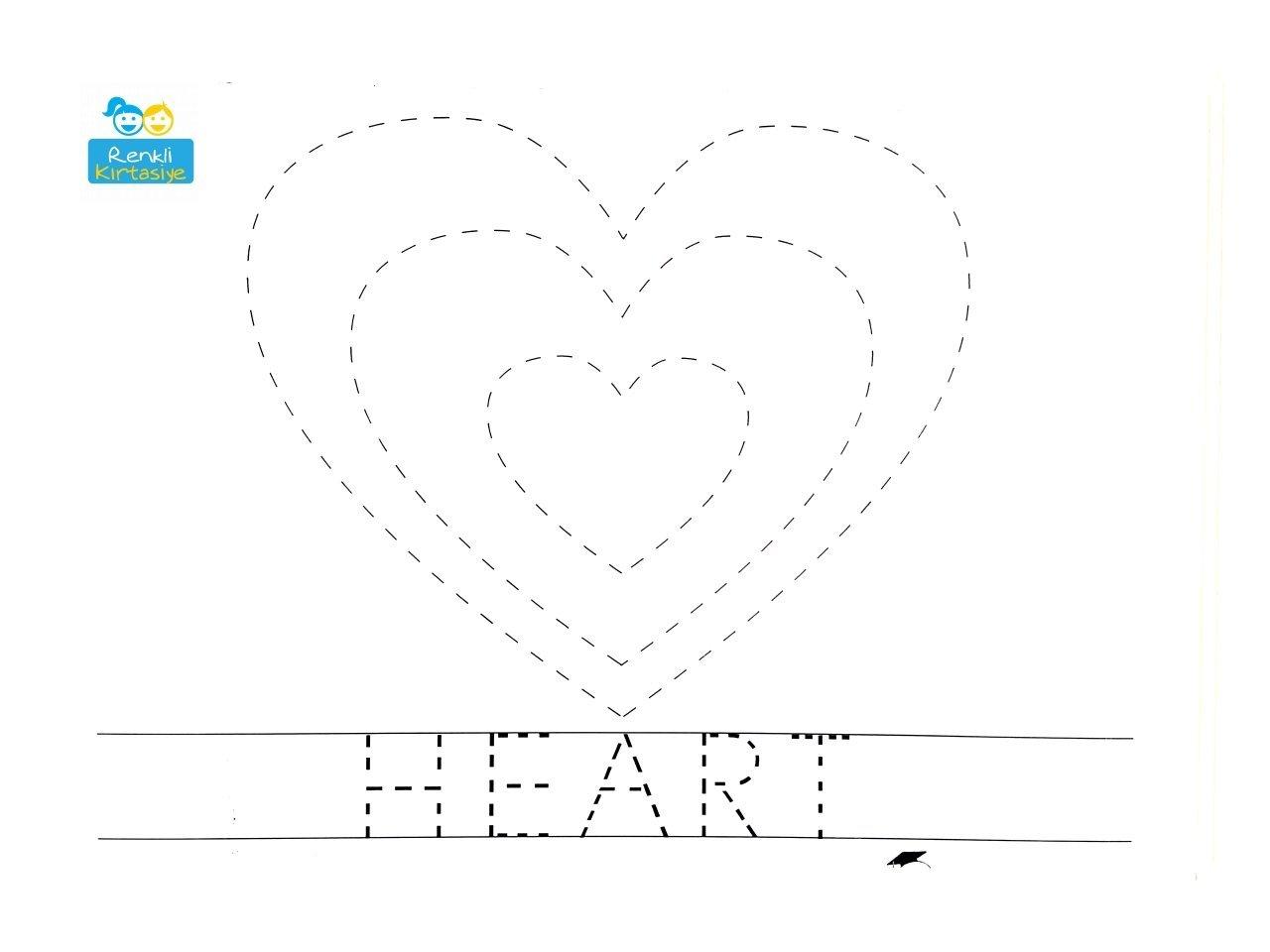 çizgi çalışmaları Kalp Pvc A4