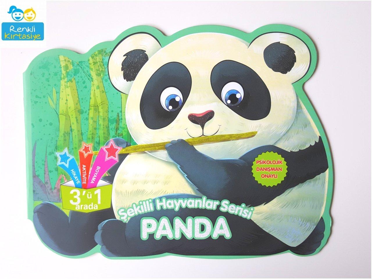 şekilli Hayvanlar Serisi Panda 3ü 1 Arada Aktivite Kitabı