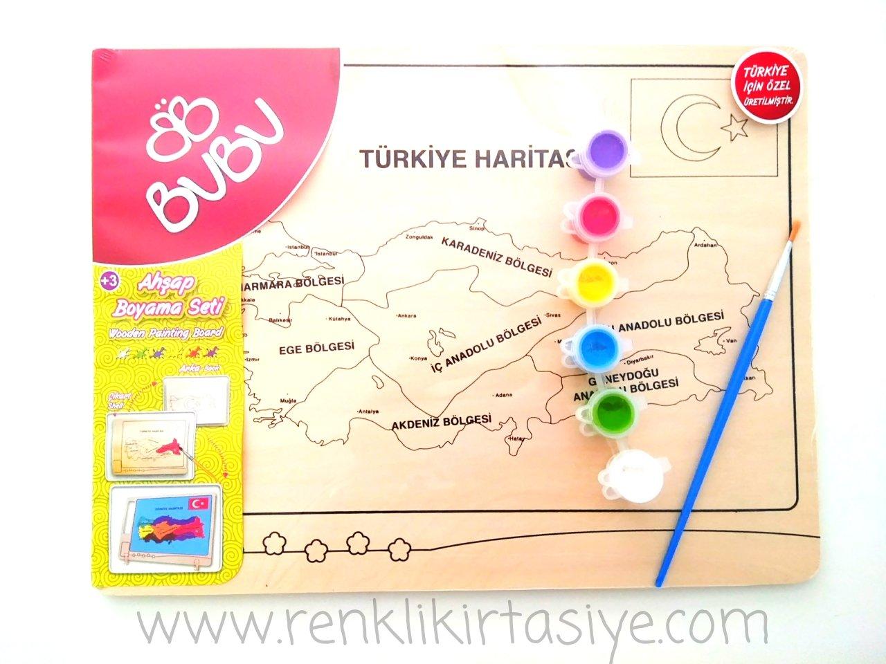 Bu Bu Ahşap Boyama Seti Türkiye Bölgeler