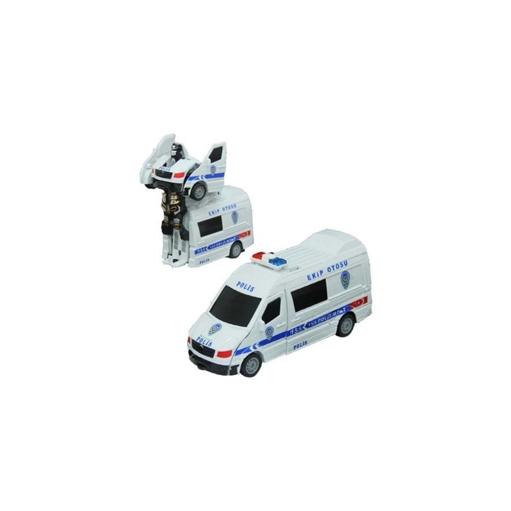 Can Oyuncak Isikli Ve Sesli Robota Donusen Polis Ambulans Can