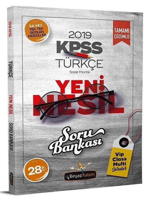 Beyaz Kalem 2019 Kpss Türkçe Yeni Nesil Soru Bankası çözümlü Beyaz