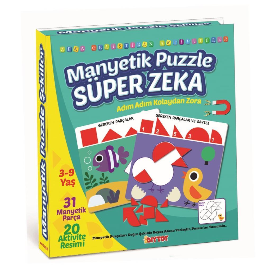 1536 DıyToy Manyetik Puzzle - Super Zeka / 31 Parça Puzzle / 3-9 yaş
