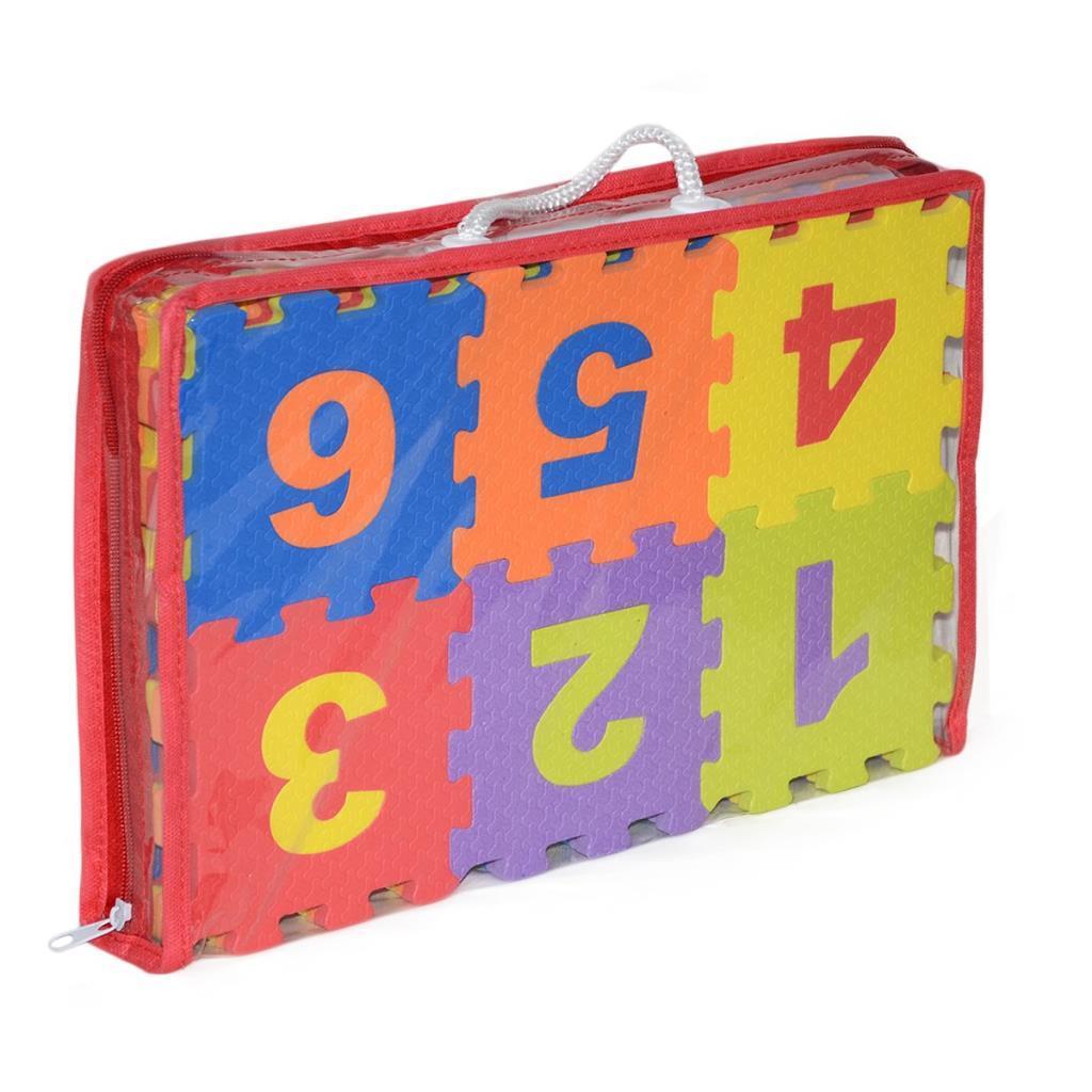 91-020 Harf-Rakam Puzzle 12cm 36 Parça Yer Karosu
