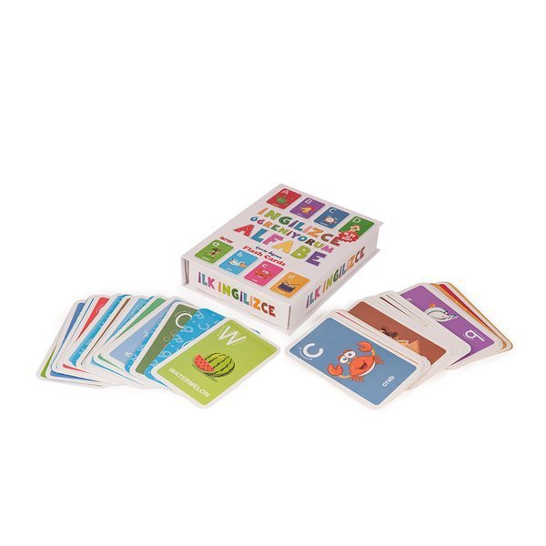 1284 DıyToy Flash Cards - İlk İngilizce Alfabe / İngilizce Öğreniyorum / +18 ay