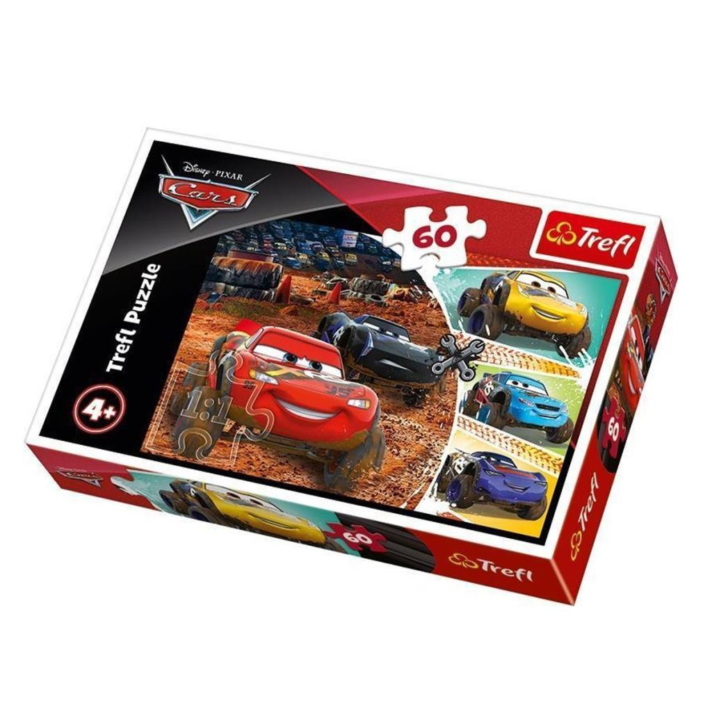 17327 Trefl Puzzle Cars 3 Lightning McQueen with Friends 60 Parça Puzzle