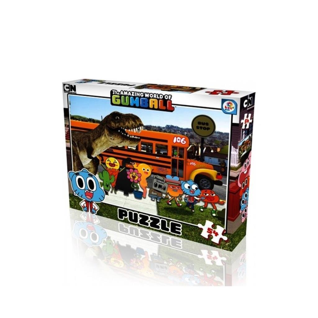 GB7593 Laço Kids Gumball 54 Parça Çerçeveli Puzzle