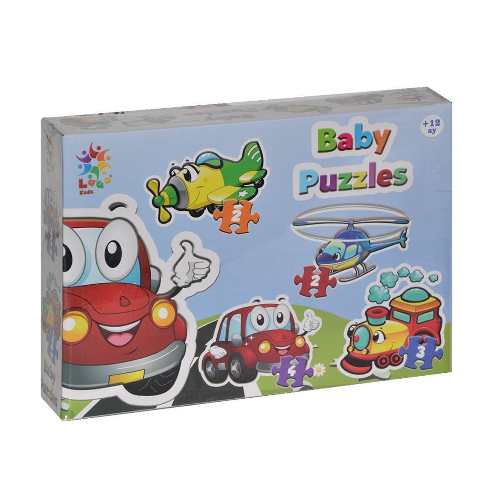 LCBYB003 Laço Kids Baby Puzzles - Taşıtlar / 2+2+3+4 Parça Puzzle / +1 yaş