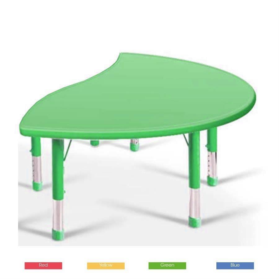 Yucaı Dalgalı D Masa Yeşil - 160x85x40-60cm