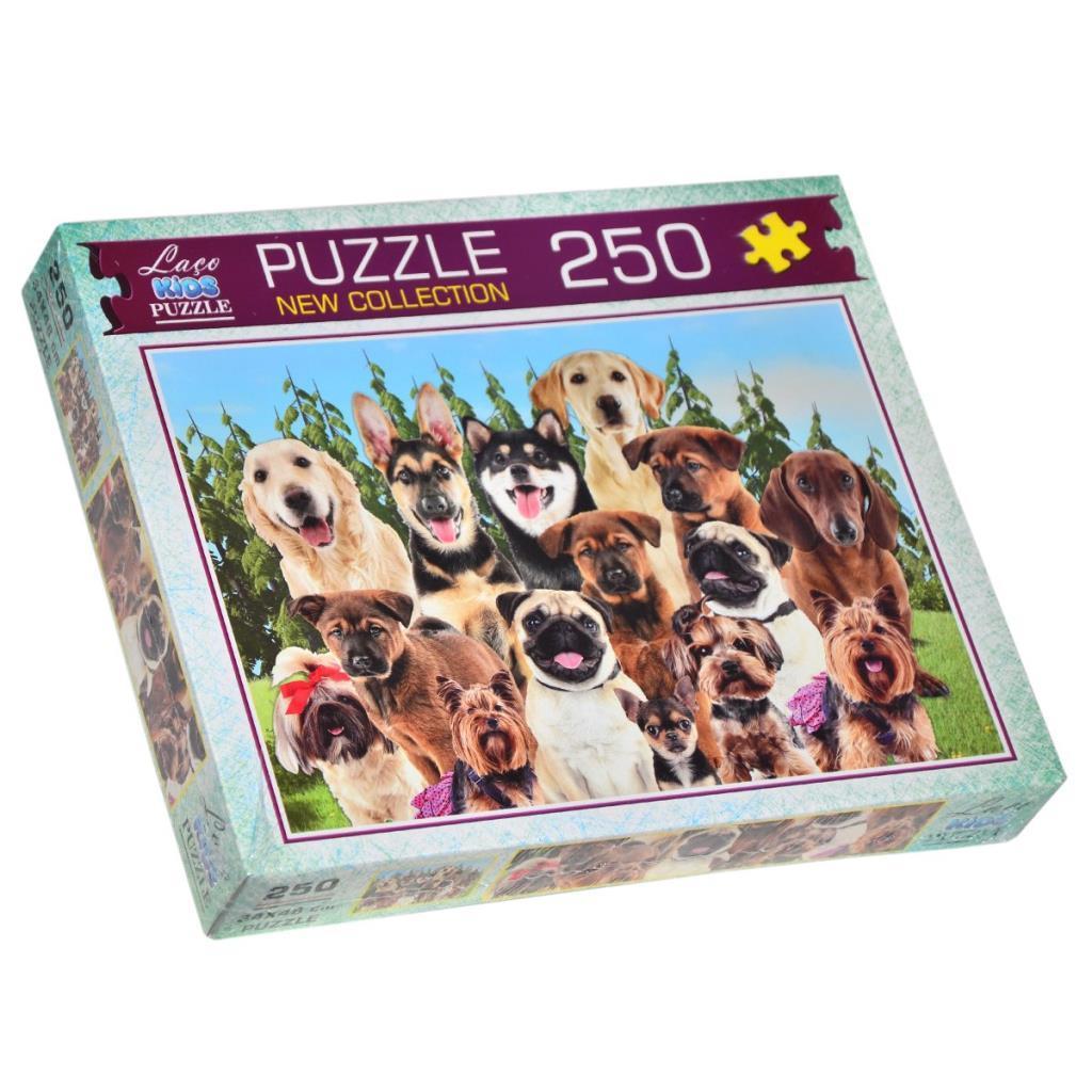 LC7195 Laço Kids Sevimli Köpekler 250 Parça Puzzle