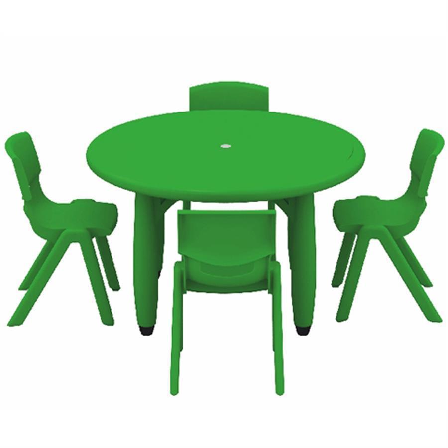Yucaı Daire Masa Yeşil - 85x85x52cm