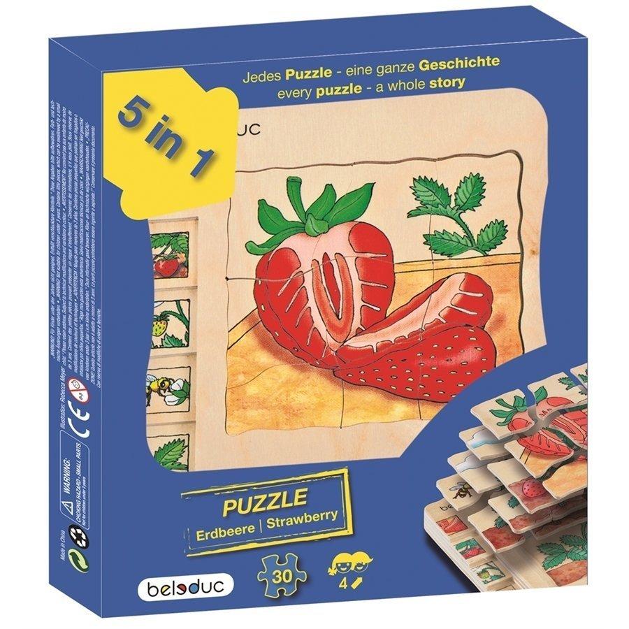 Beleduc Katlı Puzzle-Çilek15x15cm