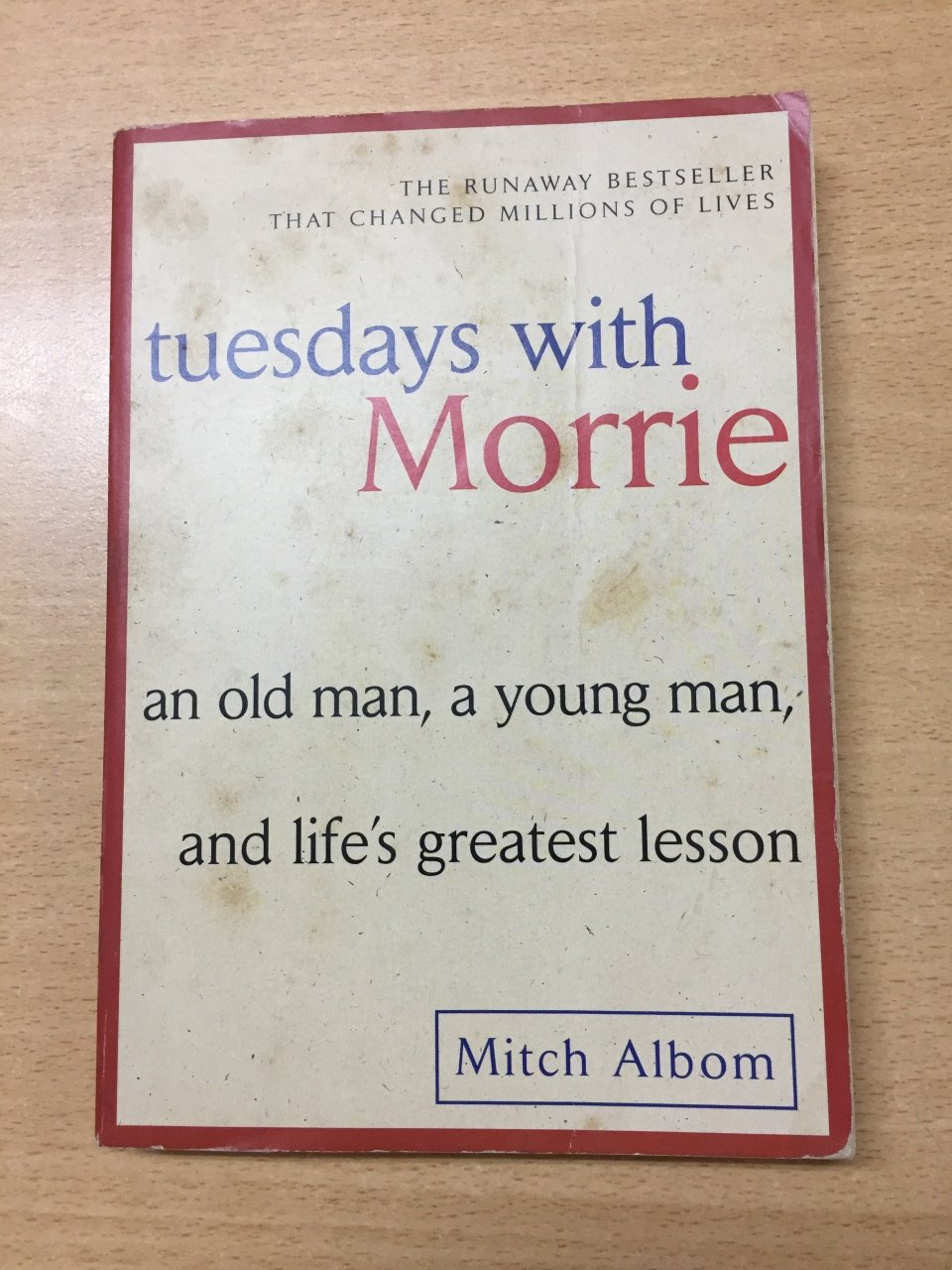 """tuesdays with morrie an analysis Tuesdays with morrie critical analysis essay in an effort to share the """"last class"""" he had with his college sociology professor, mitch album wrote, """"tuesdays with morrie"""" this moving account of the life lessons that morrie taught him is a beautiful tribute to a man whose compassion and love for humanity made him a favorite among those."""
