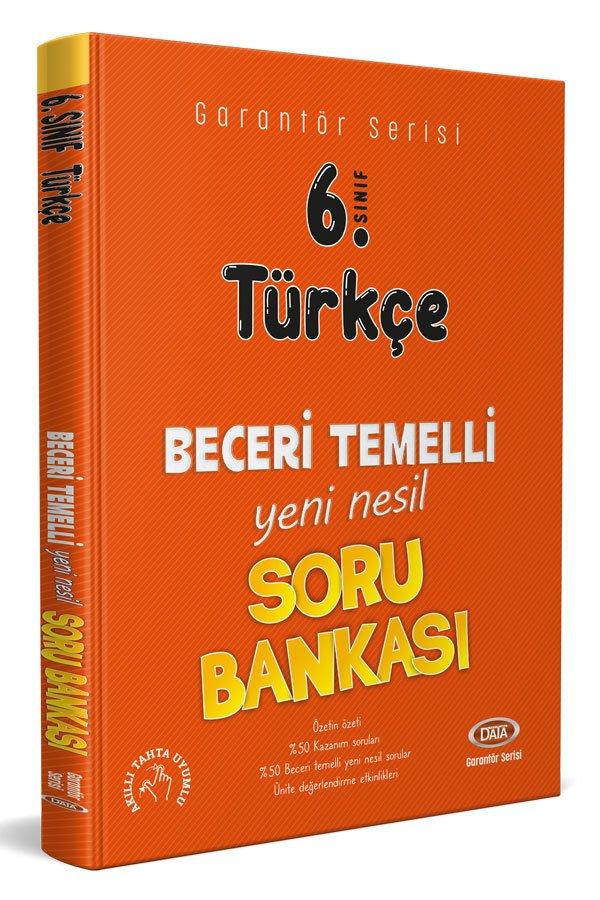 Data Yayınları 6. Sınıf Türkçe Beceri Temelli Soru Bankası (Garantör Serisi)