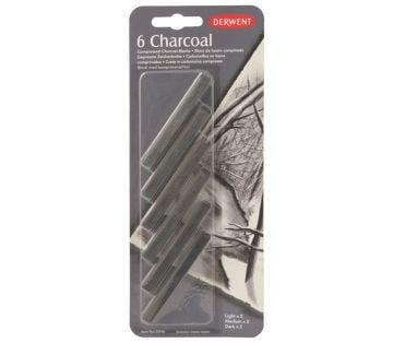 Derwent Compressed Charcoal Sıkıştırılmış Kömür Bloklar 6'lı Blister
