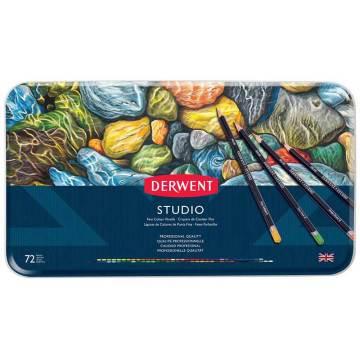 Derwent Studio Pencils Kuruboya Kalemi Metal Kutu 72'li