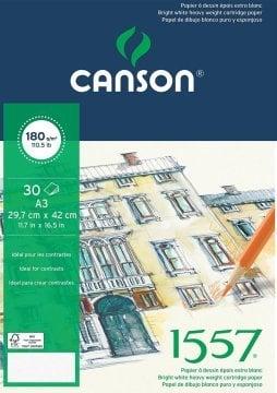 Canson 1557 Eskiz Spiralli Çizim Defteri A3 180 gr 20 Sayfa