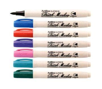 Artline Supreme Brush Marker Fırça Uçlu Kalem 7 Renk Set