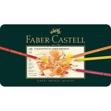 Faber Castell Polychromos Kuru Boya Kalemi Metal Kutu 120'li