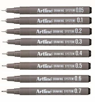 Artline Drawing System Teknik Çizim Kalem Seti 8'li