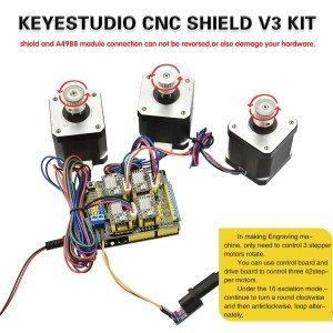 Arduino CNC Kit (CNC Shield V3 0 +Uno R3 + 4x A4988 /GRBL uyumlu)