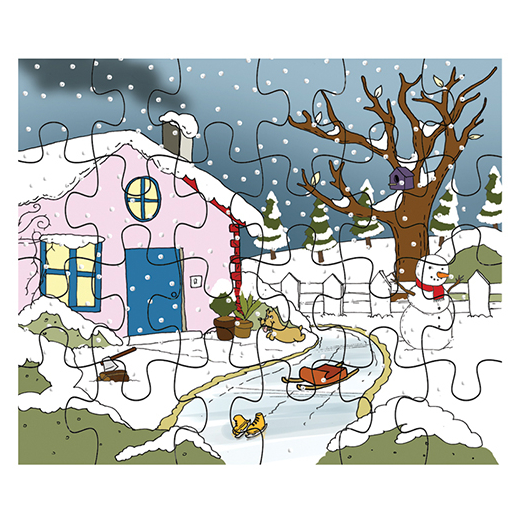 Mevsimler Puzzle Kis Mevsimi Okul Oncesi Materyalleri Kitatoys Da