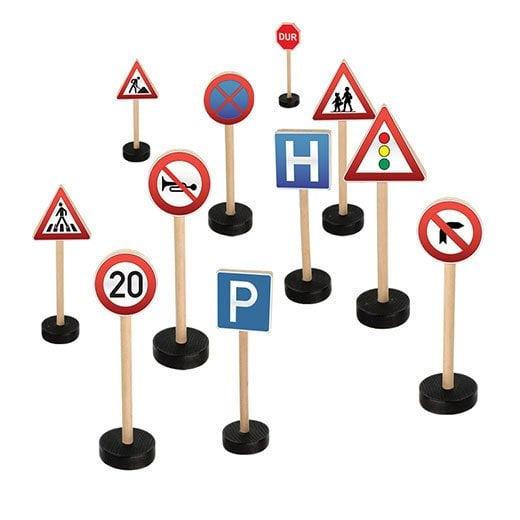 Ahsap Trafik Isaretleri 15 Parca Egitici Oyuncak