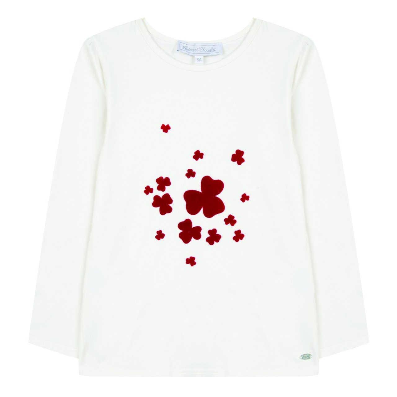 5eec2b5ef3092 Kız Çocuk Uzun Kollu Önü Nakışlı T-Shirt