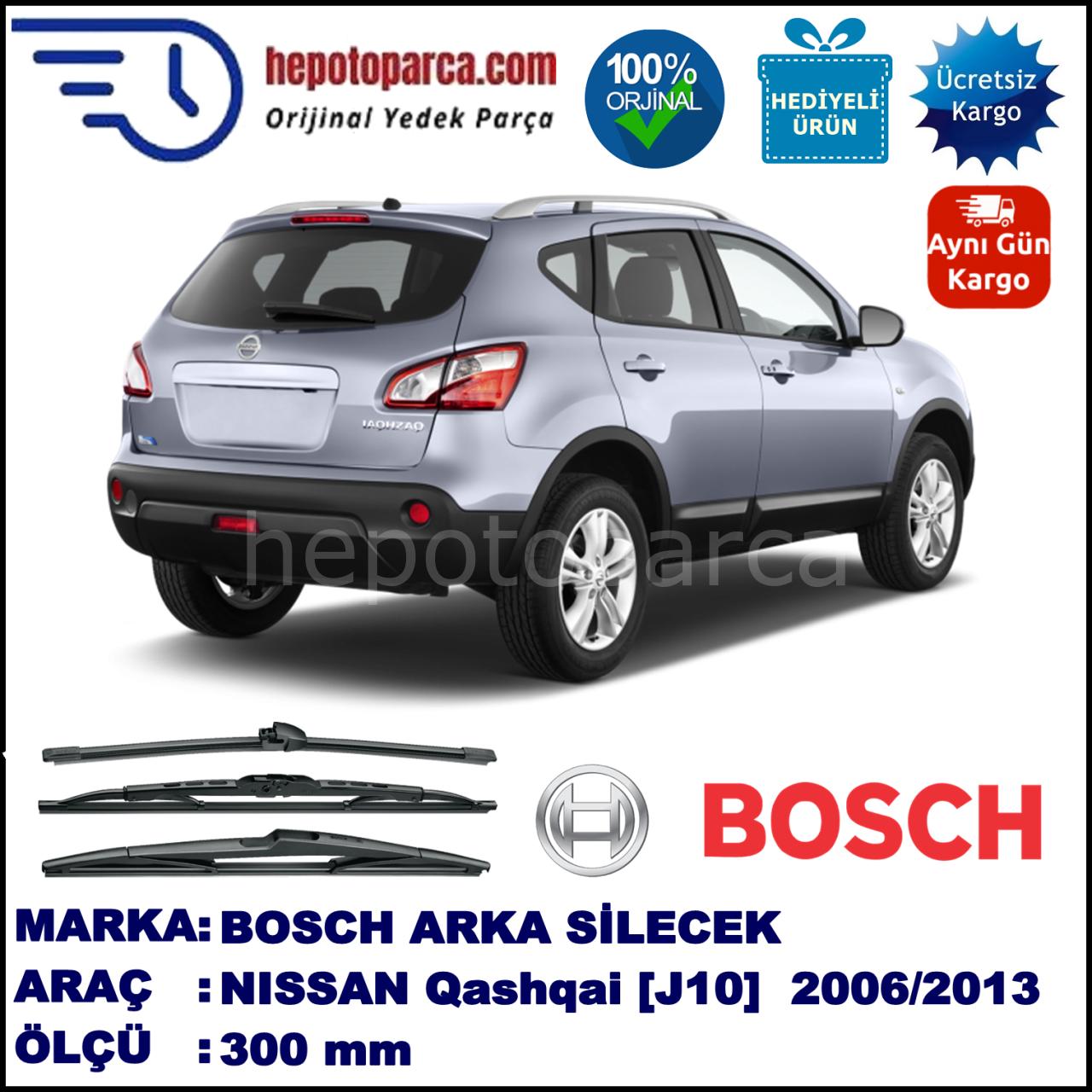 Bosch Nissan Qashqai J10 300 Mm 12 2006 Bosch Arka Silecek Plastik Silecek