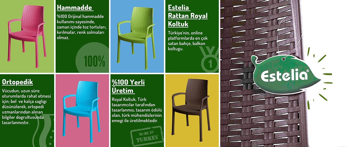Estelia Bahce Mobilyalari Rattan Plastik Masa Sadanlye