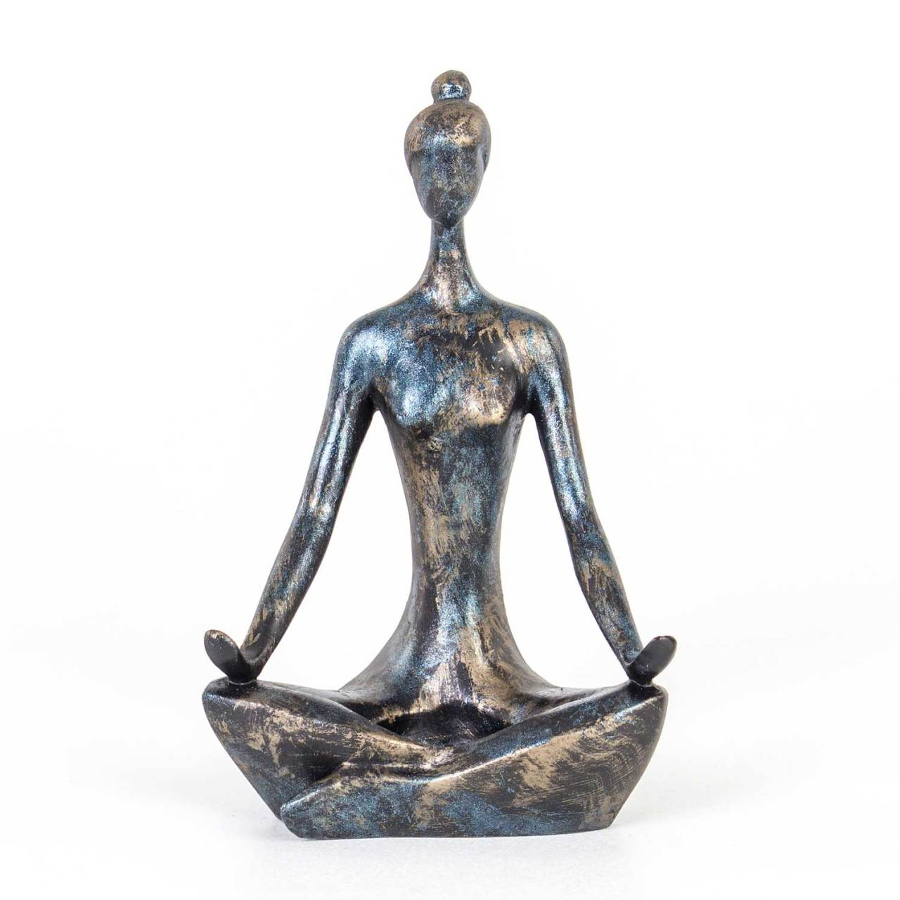 Euro Flora Dekoratif Yoga Mumluk Mavi 13x8x20 Cm Mumluk Ve Fener Herdekora Com