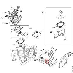 Stihl 1122-664-4500 Zincir Germe Plastik Kapağı - Stihl MS261, MS341,  MS360, MS380, MS381, MS441, MS460R, MS461, MS660