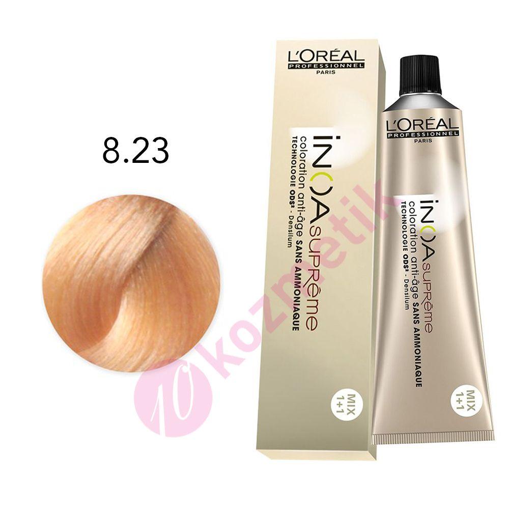 Loreal Inoa Supreme 823 Koyu Sarı Irize Dore Amonyaksız Saç Boyası 60ml