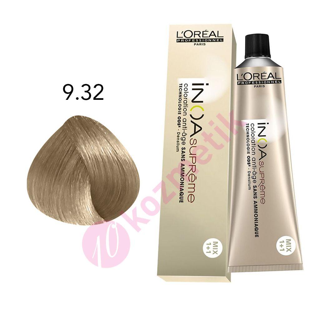 Loreal Inoa Supreme 932 Sarı Dore Irize Amonyaksız Saç Boyası 60ml