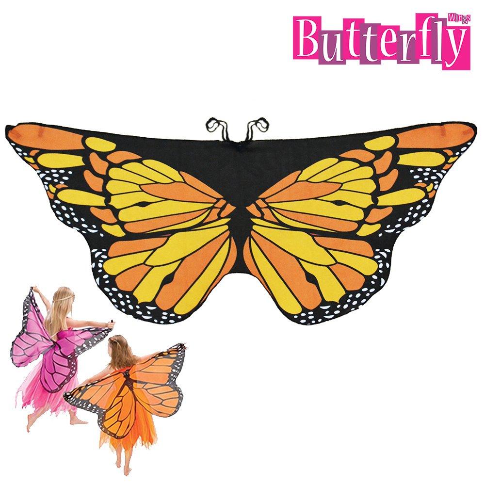 Butterfly Wings Kelebek Kanadi Pelerini Turuncu