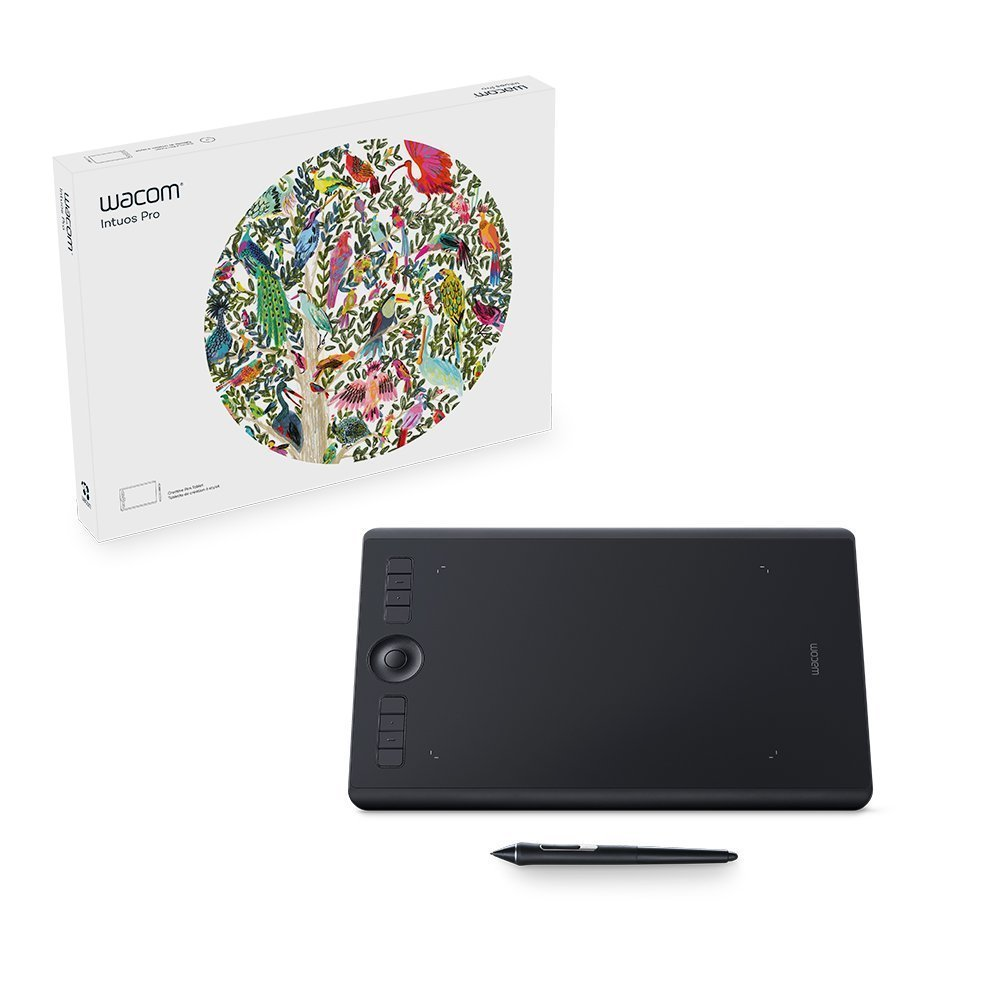 Wacom Intuos Pro digital graphic drawing tablet for Mac or PC, Me