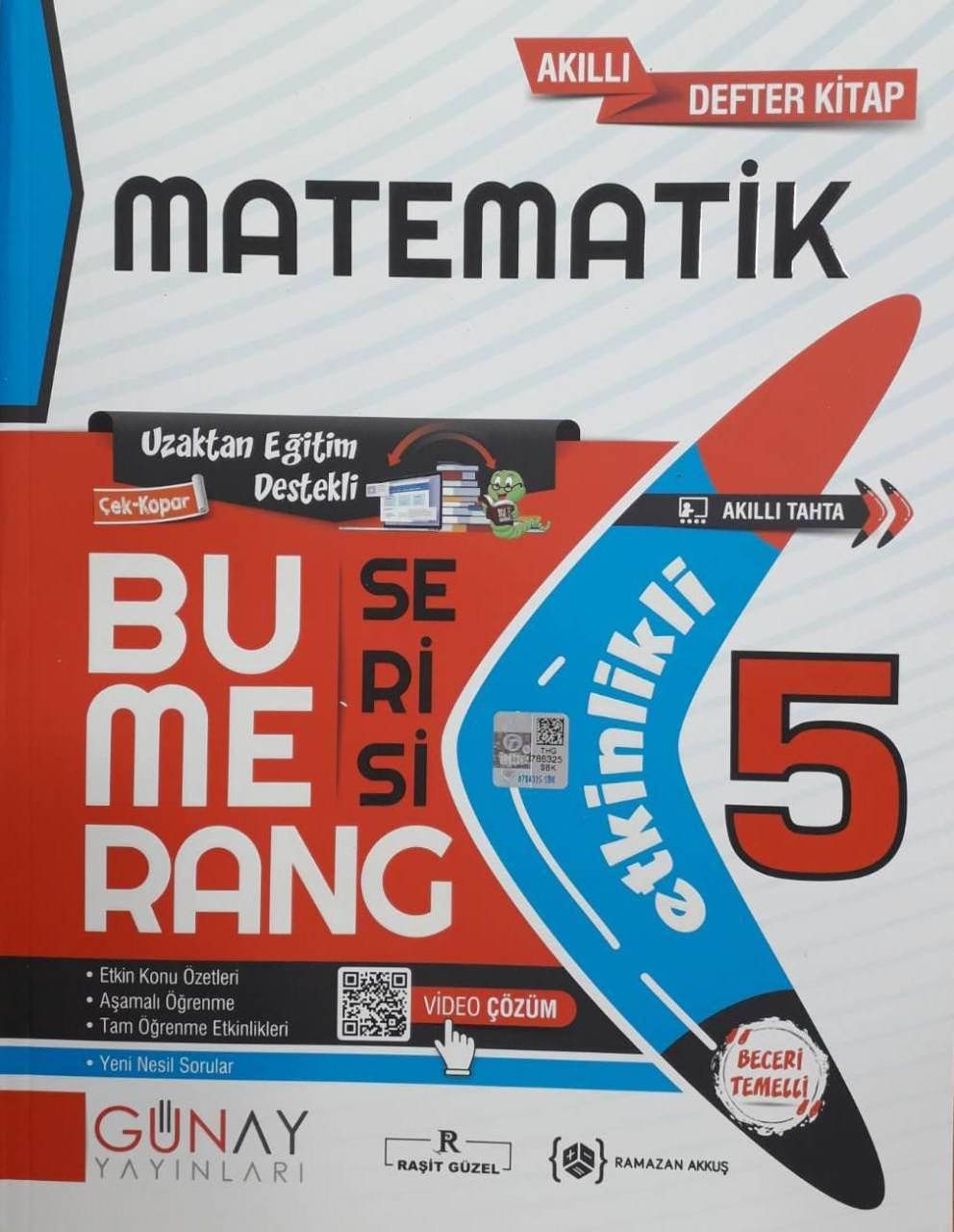 Günay Yayınları 5. Sınıf Matematik Etkinlikli Bumerang Serisi