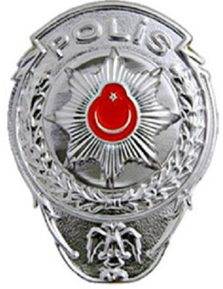 Polis Cüzdan Rozeti Gri Renk Askeri Malzeme