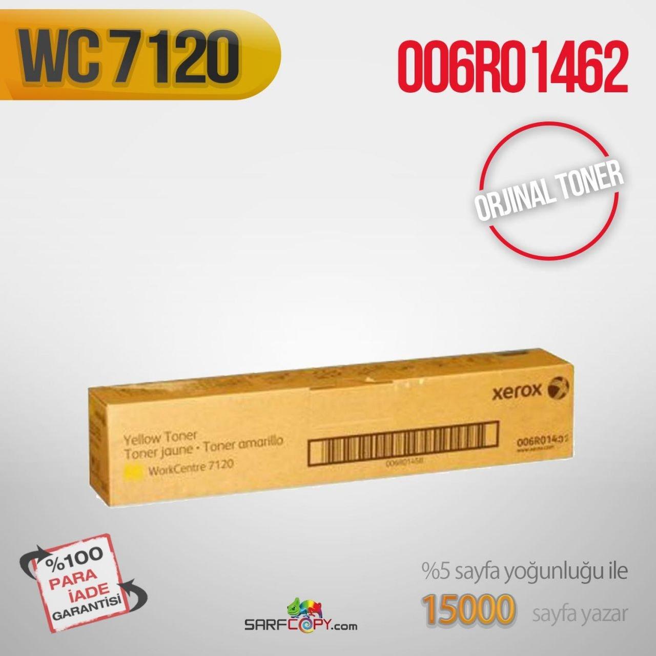 Тонер-туба xerox 006r01462 жёлтый (15000 страниц) для wc7120/7125