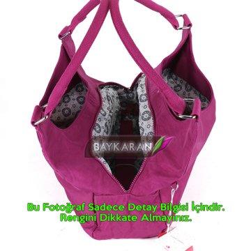 53866e7a40205 ... Krinkıl Kumaş Bayan Omuz Çantası Smart Bags 1121 Fuşya Pembe ...
