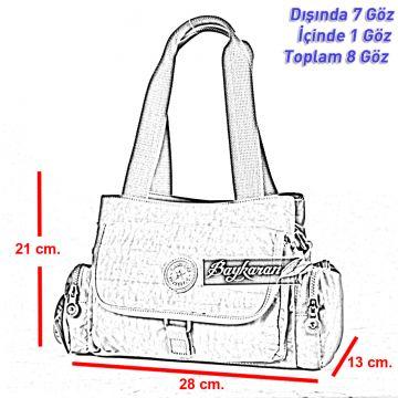 0a30d7e1fbdff ... 1124 Buz Grisi SU GEÇİRMEZ Krinkıl Kumaş Bayan Çantası Smart Bags
