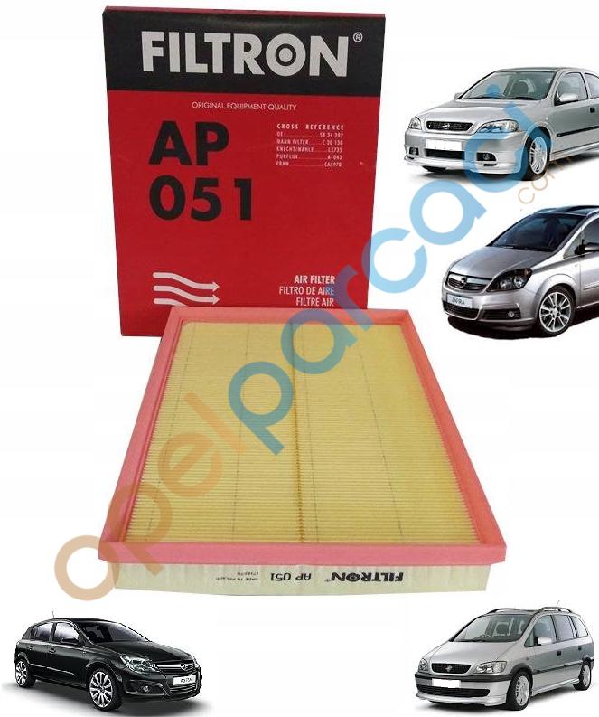 Opel Astra G - Astra H - Zafira A - Zafira B Hava Filtresi FILTRON
