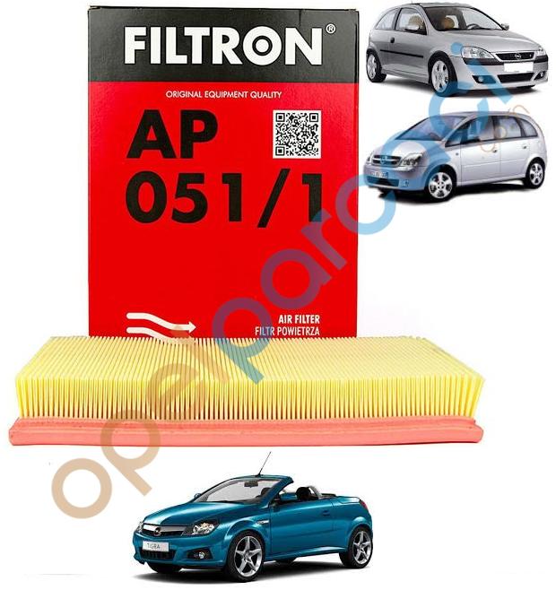 Opel Corsa C - Meriva A - Tigra B Hava Filtresi Benzinli FILTRON