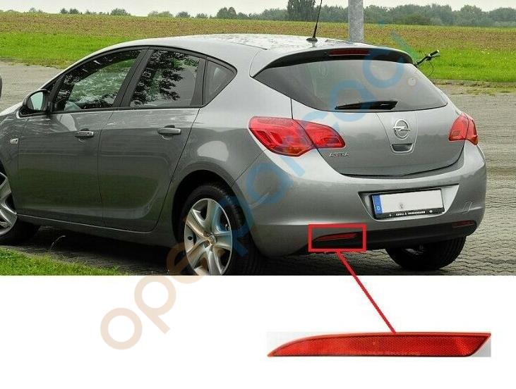Opel Astra J 2010 - 2012 Arka Tampon Reflektör Kedi Gözü Sol