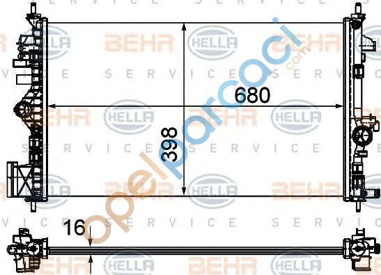 Opel İnsignia A Su Radyatörü 1.6 (A16XER-A16LET) Benzinli Motorlar İTHAL