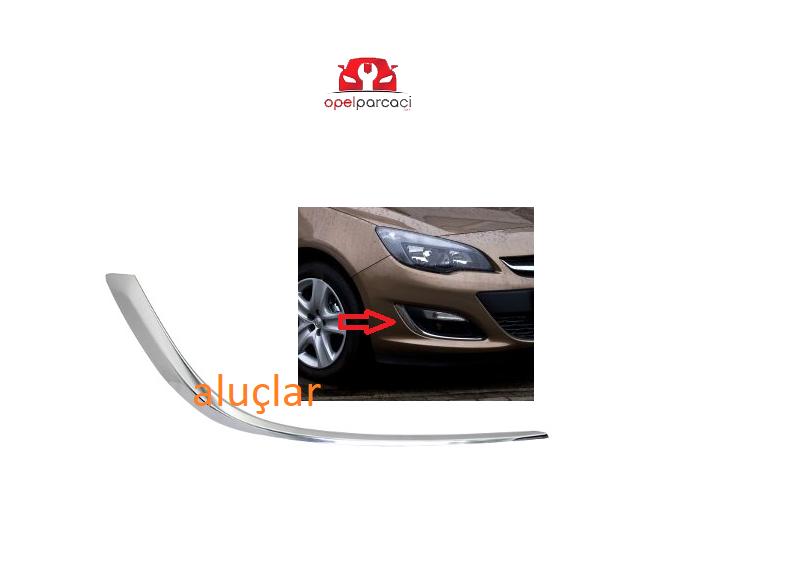 Opel Astra J Makyajlı Kasa Sis Far Kapak Kromu Sağ