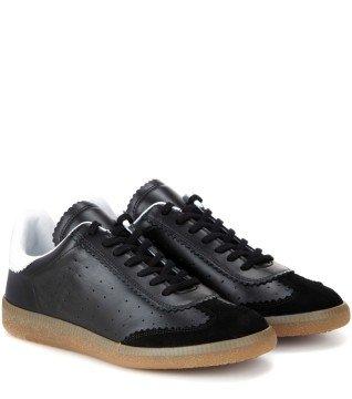 promo code e3b68 20139 Étoile Bryce leather sneakers - Ayakkabı, Siyah